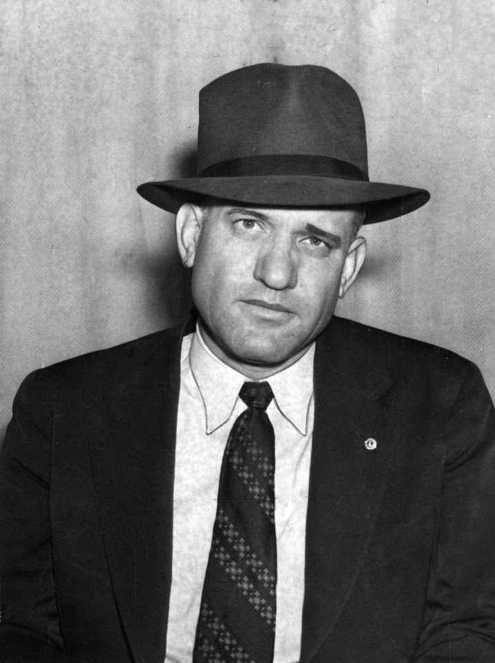 "This photo of L.J. ""Smokey"" Hilbert was taken in 1939 before he became Oklahoma City police chief.  OKLAHOMAN ARCHIVE PHOTO <strong>C.J. KAHO - STAFF PHOTO</strong>"