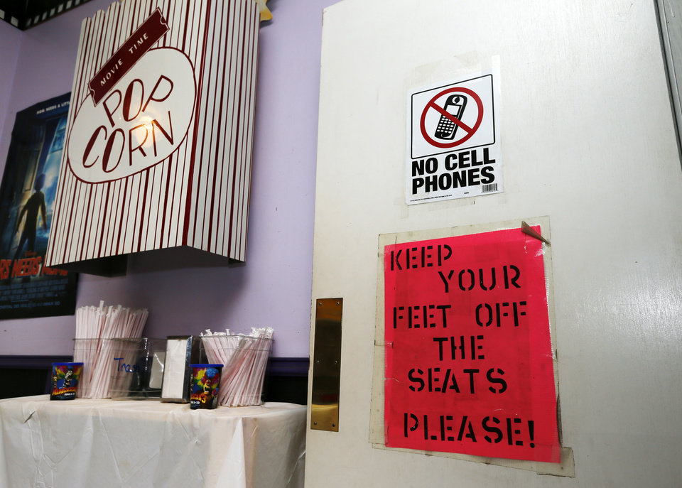 A view of the lobby at the Time Theater in Stigler, Okla., Thursday, Feb. 7, 2013. The community is raising the $100,000 needed to convert the theater to digital projection and keep it open. Photo by Nate Billings, The Oklahoman