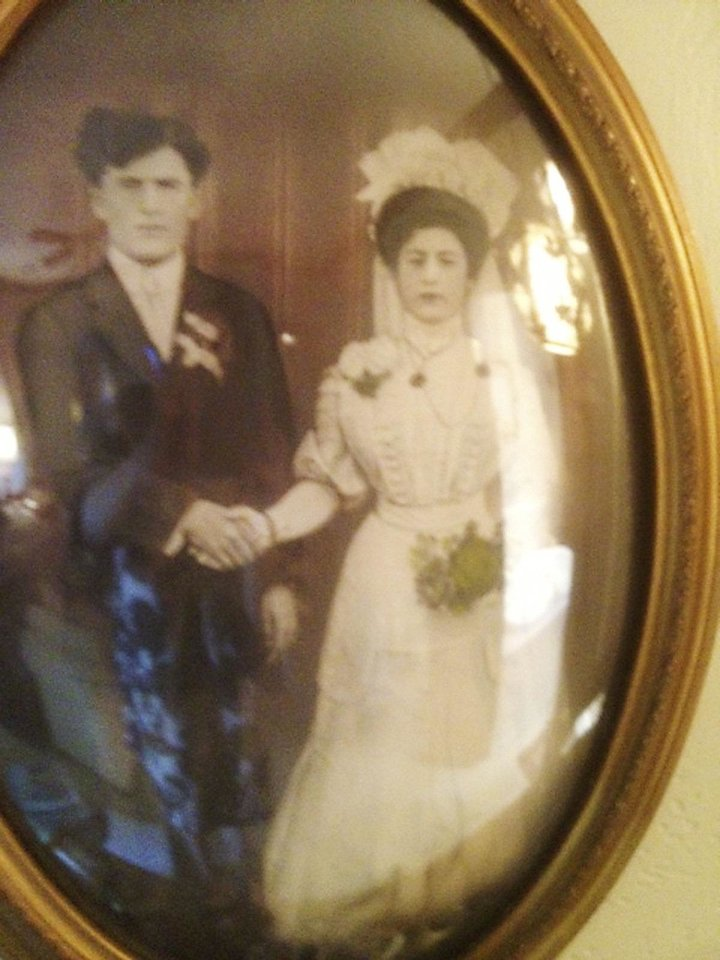 Photo - WEDDING DRESS: Mr. and Mrs. Frank Cohlmia were married in 1908. Photo provided by Judith Lehmbeck