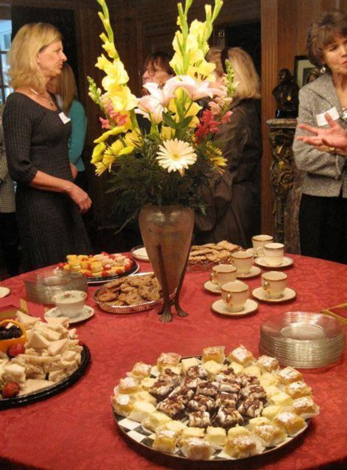 AFTERNOON TEA... Party fare. (Photo by Helen Ford Wallace).
