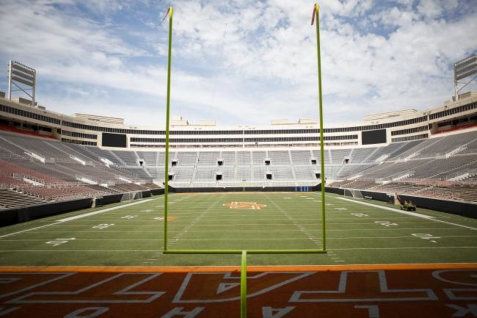 Photo -  Will football facilities like Boone Pickens Stadium in Stillwater have fans come September? [OKLAHOMAN ARCHIVES]