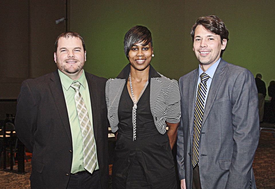 Photo - Justin Hunt, Candice Salters, Mylo Miller.  PHOTO BY DAVID FAYTINGER, FOR THE OKLAHOMAN
