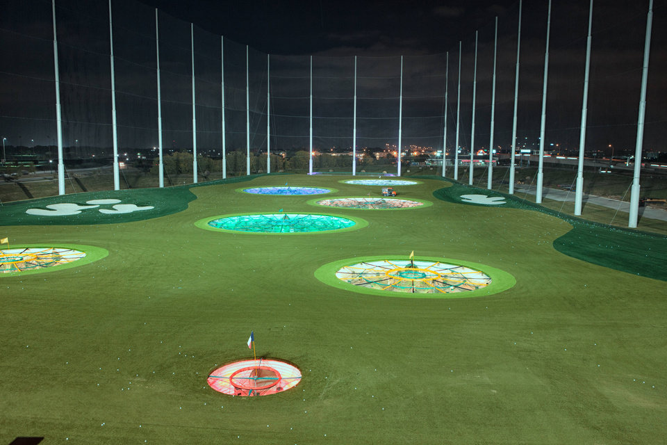 Photo - Targets at TopGolf in The Colonies, Texas.