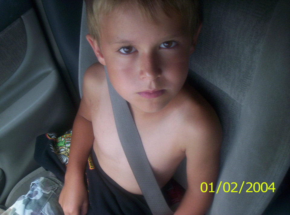 Buckle up it's the LAW!future law inforcement Kash kirkpatrick 10 years old. going to Aunt Vickies house... In New CAstle OKlahoma her other house got hit by tornado.. I prayed so hard for her to be okay that night... And she is....<br/><b>Community Photo By:</b> MOM<br/><b>Submitted By:</b> Tama, Midwest