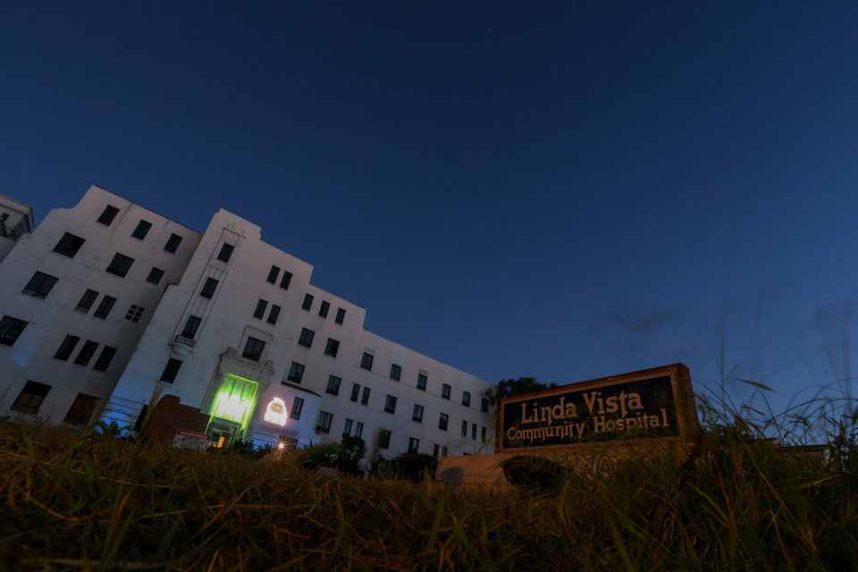 Photo - A general view of the exterior of Linda Vista Hospital is seen during the