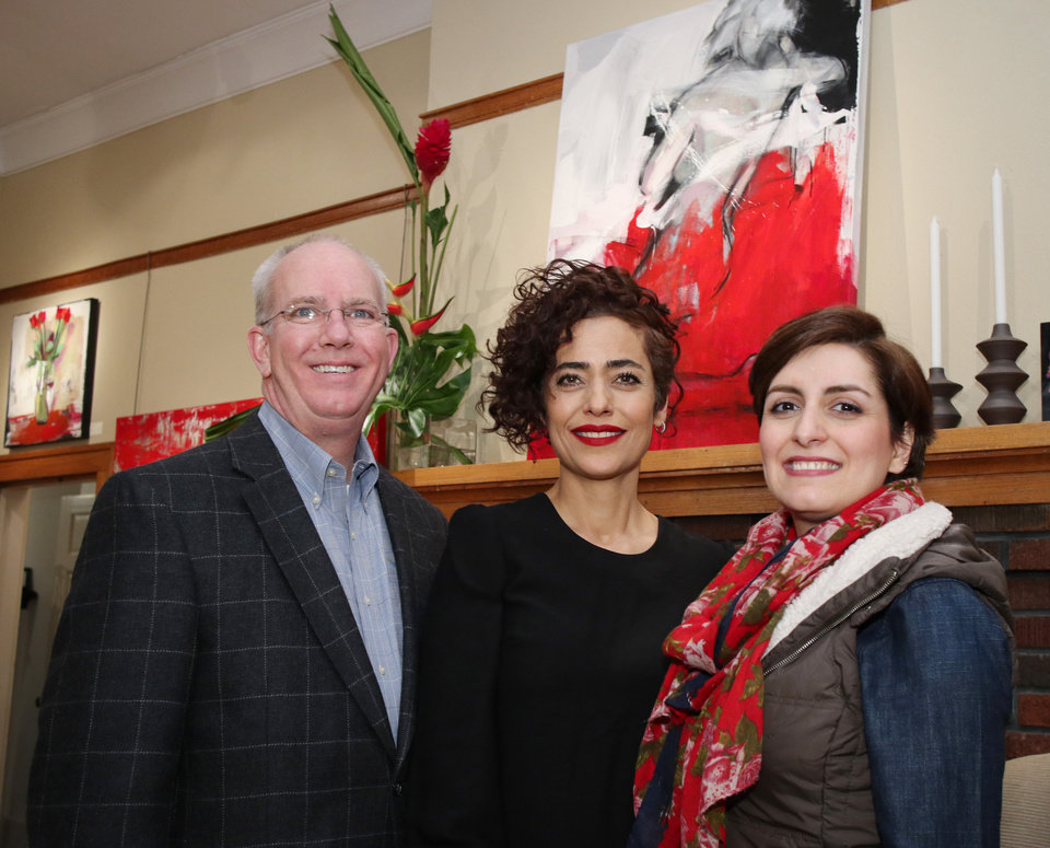 Photo - Brent Kinsey, Behnaz Sohrabian, Minda Sadeghi. PHOTO BY DOUG HOKE, THE OKLAHOMAN