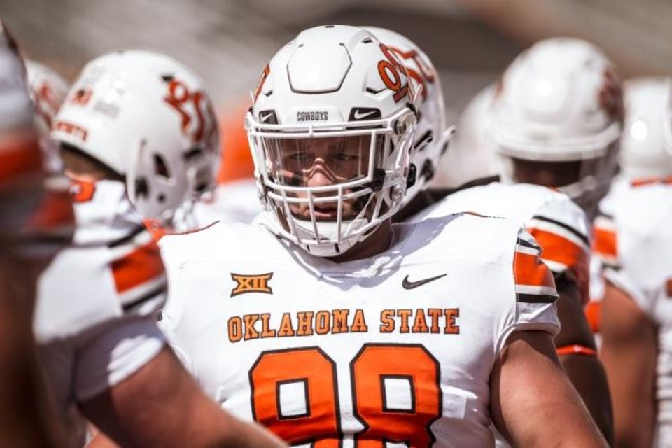 Photo -  Oklahoma State defensive tackle Brenond Evers fought through injury issues last season. [Bruce Waterfield/OSU Athletics]