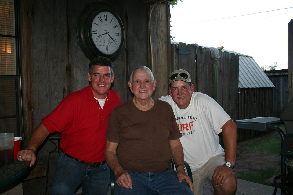 Photo - Eric, Paul and Keith Castner before Paul passed away and donated his organs. Photo provided by LifeShare.