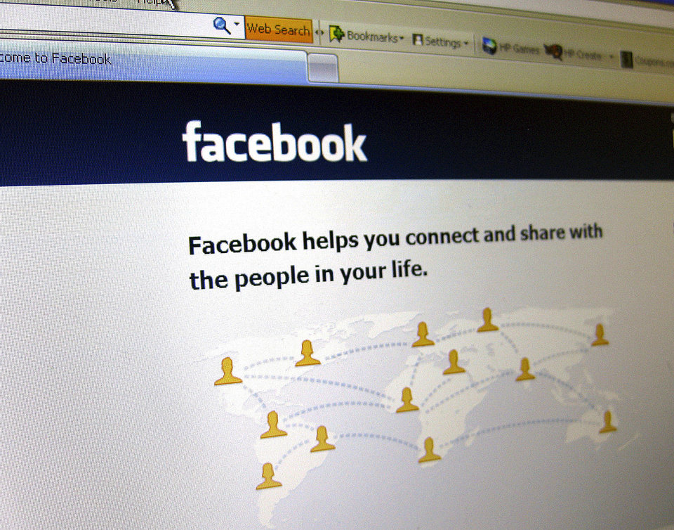 This June 20, 2012 photo shows a Facebook login page on a computer screen in Oakland, N.J. Facebook is expected to report their quarterly financial results after the market closes on Thursday, July 26, 2012. (AP Photo/Stace Maude) ORG XMIT: NYLS101