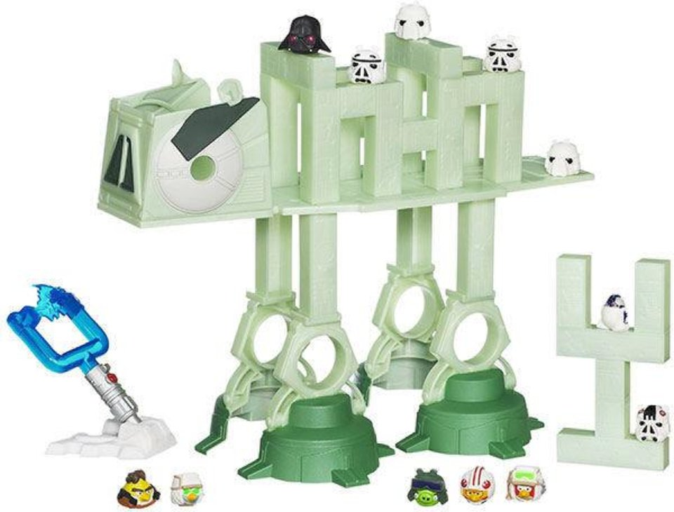 Angry Birds Star Wars AT-AT Attack Battle Game combines Star Wars and Angry Birds in a game of Launching rebels to take out Storm Troopers and destroy a fearsome AT-AT walker. $39.99 at Toys R Us. Photo provided. <strong></strong>
