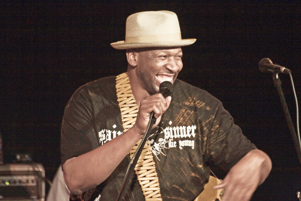 Former Oklahoma basketball star Wayman Tisdale got his first guitar in the third or fourth grade from his father. It was a Mickey Mouse guitar.  Photo provided