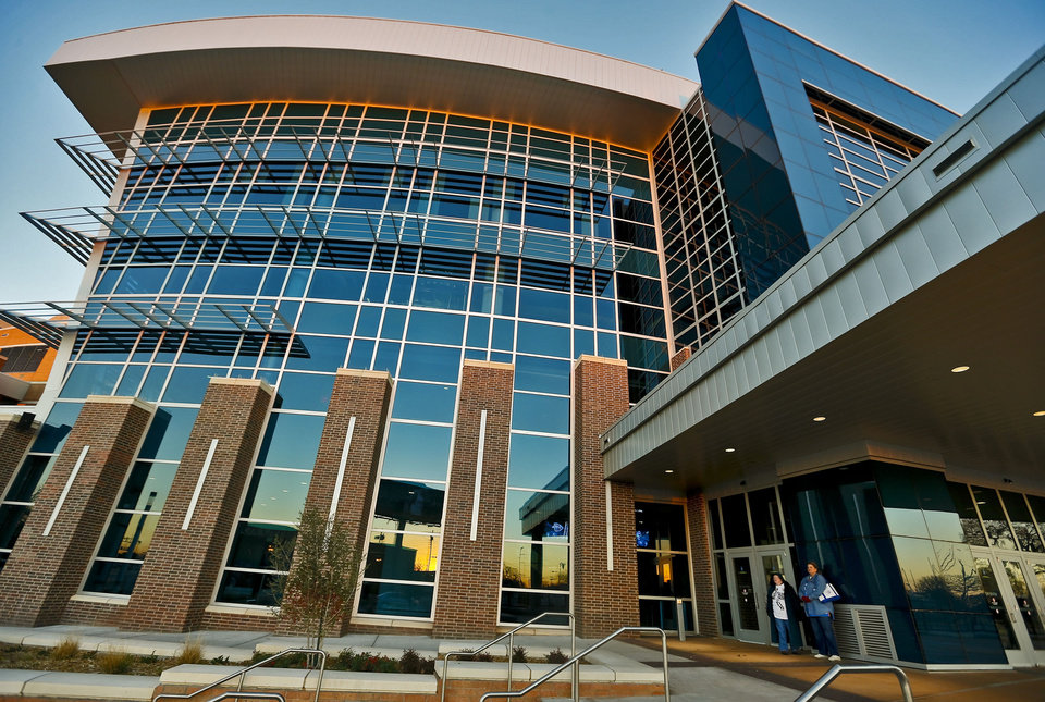 Photo - BUILDING EXTERIOR: The new southwest entrance to the Chesapeake Energy Arena during the NBA basketball game between the Oklahoma CIty Thunder and the New Orleans Hornets at the Chesapeake Energy Arena on Wednesday, Dec. 12, 2012, in Oklahoma City, Okla.   Photo by Chris Landsberger, The Oklahoman