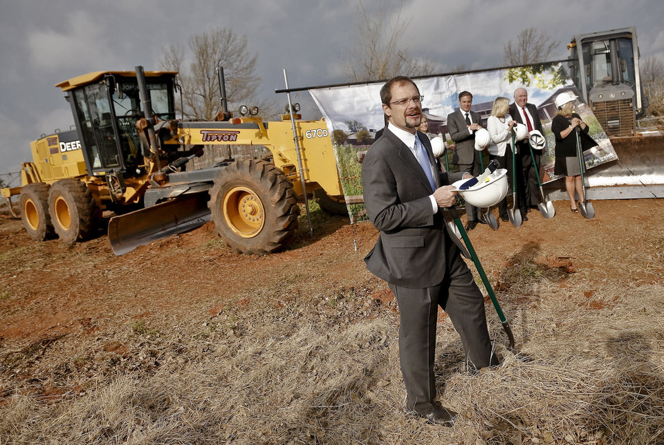 Oklahoma City Zoo Executive Director Dwight Scott speaks during the groundbreaking for the Oklahoma City Zoo's new Joan Kirkpatrick Animal Hospital. PHOTOS BY CHRIS LANDSBERGER, THE OKLAHOMAN