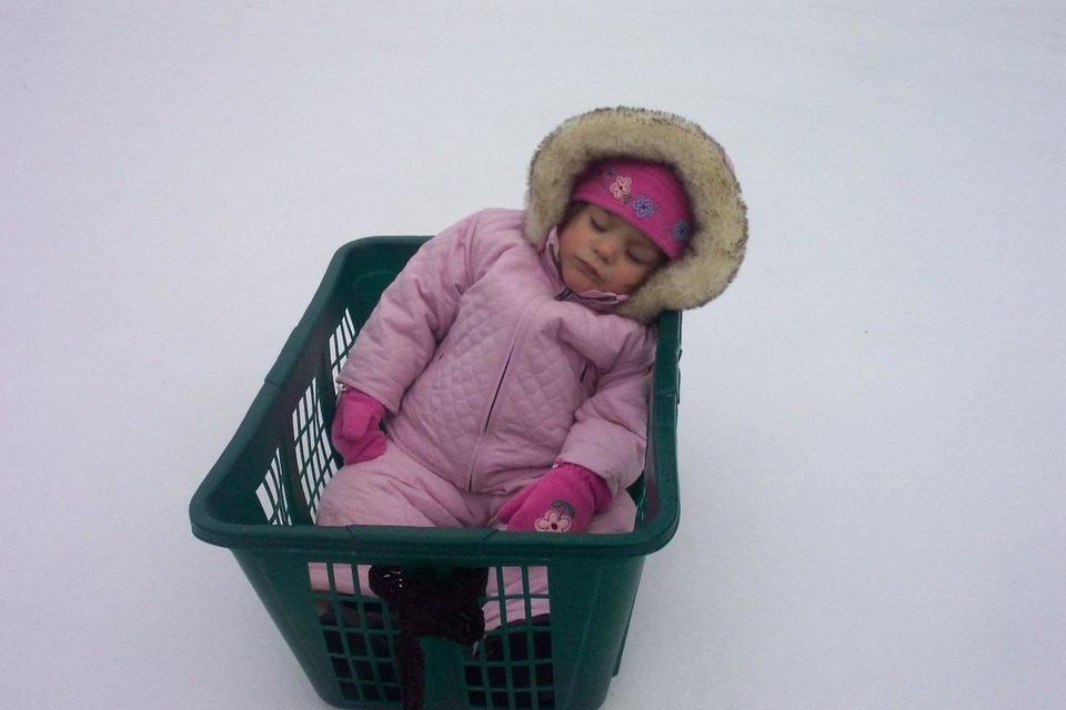 Brooklyn Scott (18 Months)enjoying her nap on Ice.<br/><b>Community Photo By:</b> GGrandpa Sims<br/><b>Submitted By:</b> Robert, Harrah