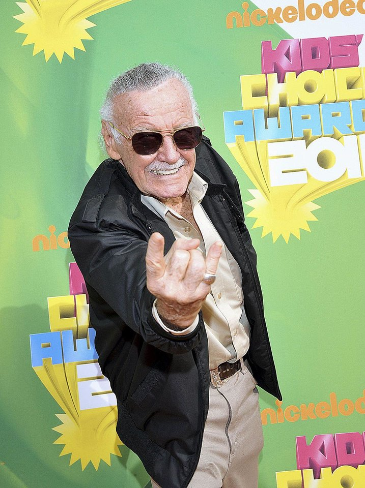 Photo - Stan Lee arrives at Nickelodeon's 24th Annual Kids' Choice Awards on Saturday, April 2, 2011, in Los Angeles. (AP Photo/Vince Bucci)