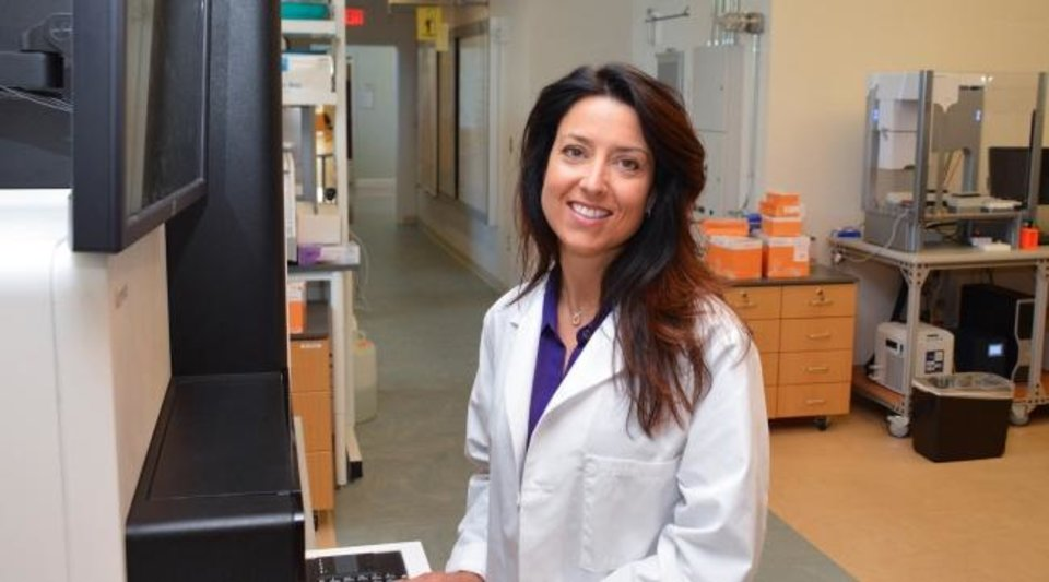 Photo -  At the OMRF, Courtney Montgomery is researching sarcoidosis, an inflammatory infectious disease in which granulomas form in, and change the normal structure and function of, various organs; most commonly the lungs, eyes, lymph nodes and skin. [PROVIDED]