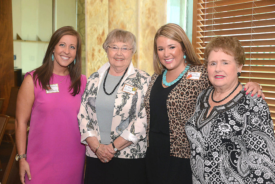 Photo - Natalie Kinmonth, Jo Ann Holden, Ashley Simpson, Virginia Robertson. Photo by David Faytinger, for The Oklahoman