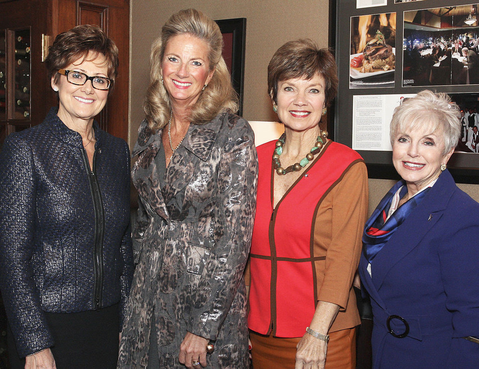 Photo - Charlotte Richels, Marnie Taylor, Janie Axton, retired Maj. Gen. Rita Aragon.