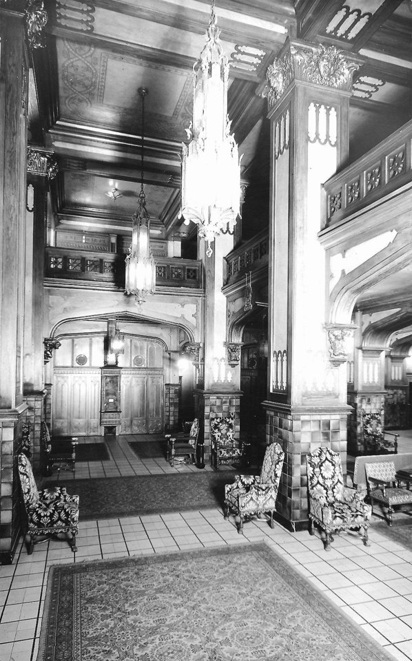 Photo - The original 104-year-old tile floor of the Skirvin Hilton Hotel, shown in this 1930 photograph, is set to be torn up and replaced as part of an upcoming renovation.  Photo provided  FILE