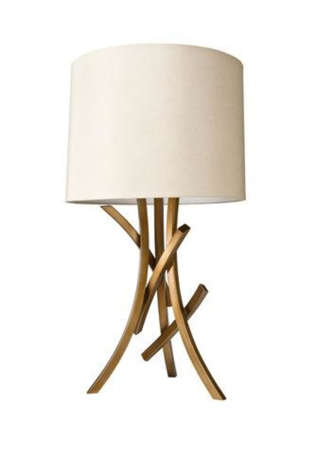 Nate Berkus birch lamp will be in Target stores Oct. 21.