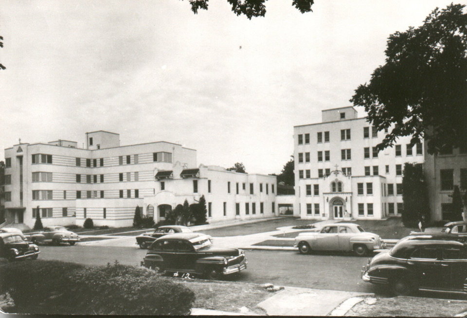 Photo - This vintage photo shows Oklahoma City General Hospital, the medical facility at 520 NW 12 that was purchased by the Sisters of Mercy in 1947. The hospital was renamed Mercy General Hospital. Photo provided by Sisters of Mercy