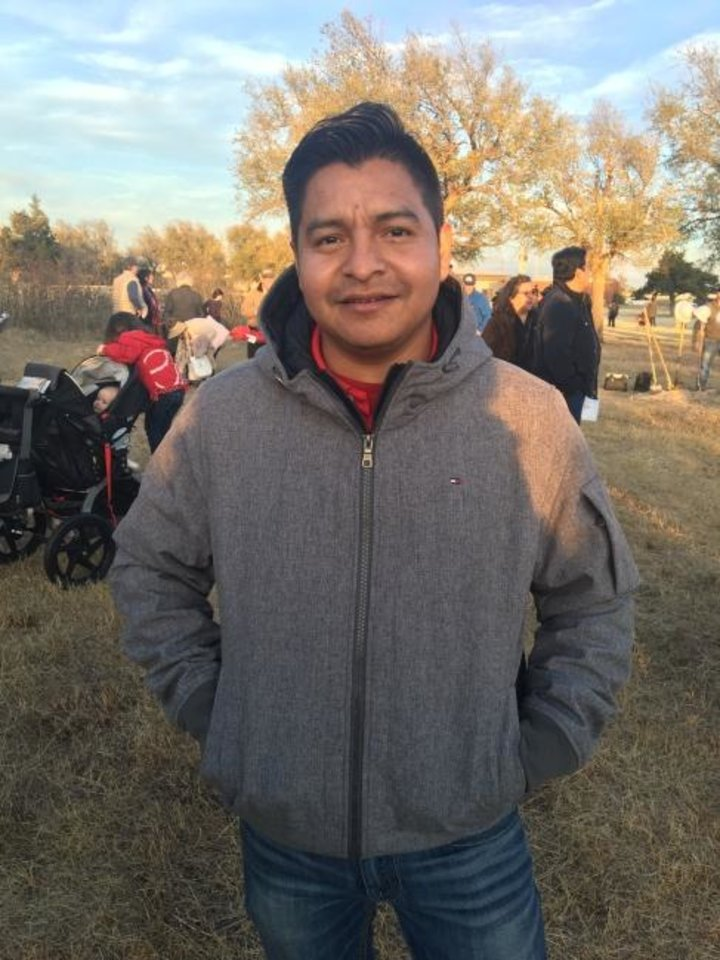 Photo -  Ernesto Ramirez, whose family lives near the church in Guatemala where Father Stanley Rother was murdered, traveled to Oklahoma City for Sunday's groundbreaking of the Rother Shrine. [Clytie Bunyan/The Oklahoman]