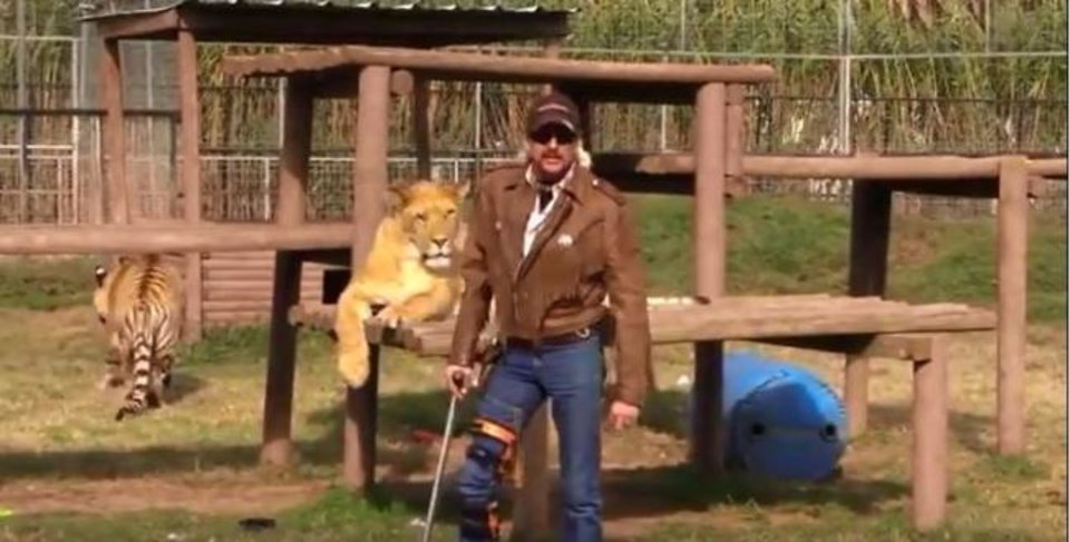 Photo -  Joe Exotic is shown at the Greater Wynnewood Exotic Animal Park. [Photo provided]