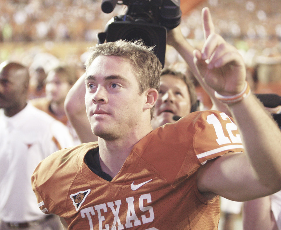 Photo - Quarterback Colt McCoy and the Longhorns will face Ohio State in the Fiesta Bowl. AP photo