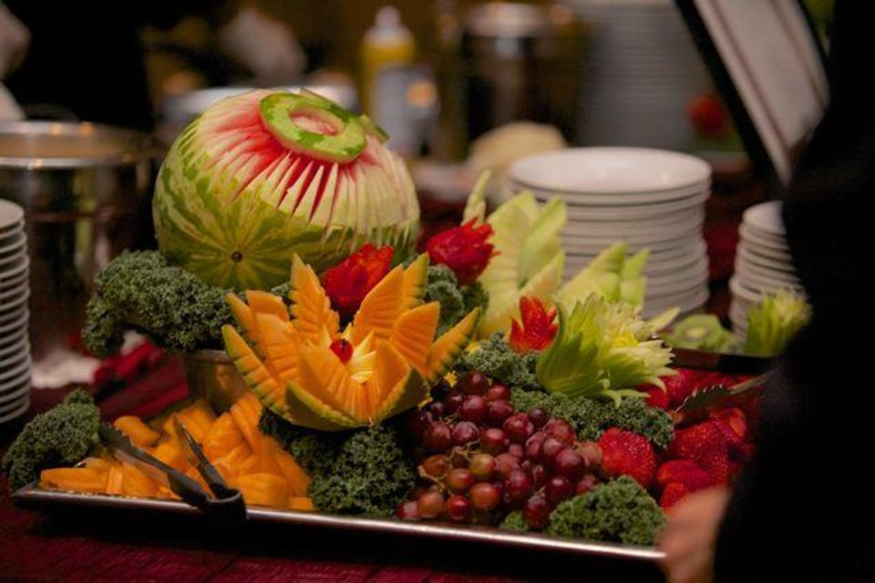 One of the food tables at the party. (Photo provided).