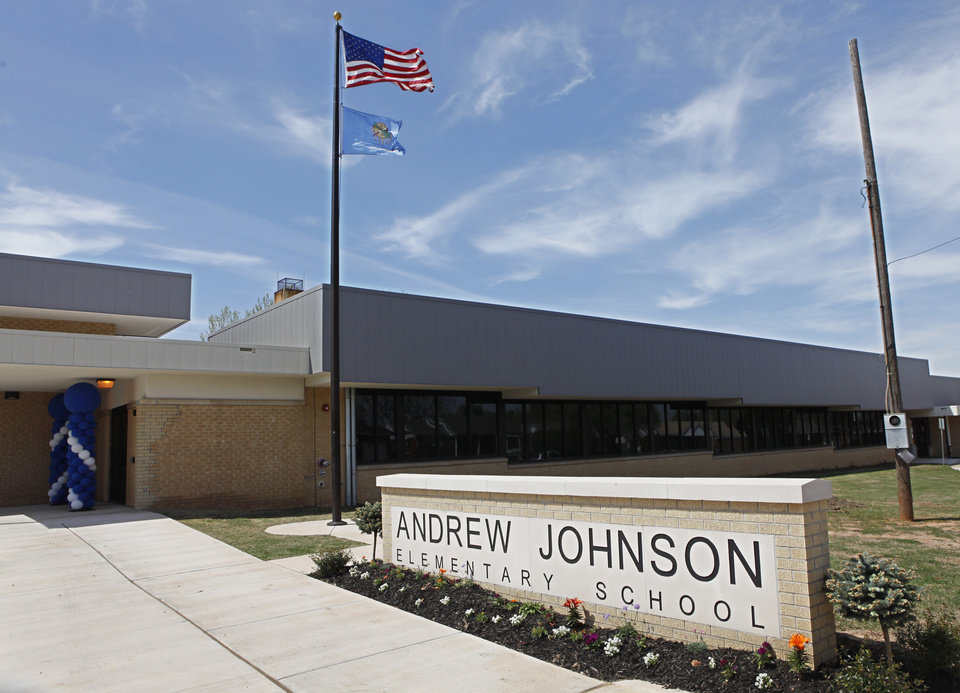Andrew Johnson Elementary School in northwest Oklahoma City celebrated its grand opening, March 26, 2012.  Photo By David McDaniel/The Oklahoman