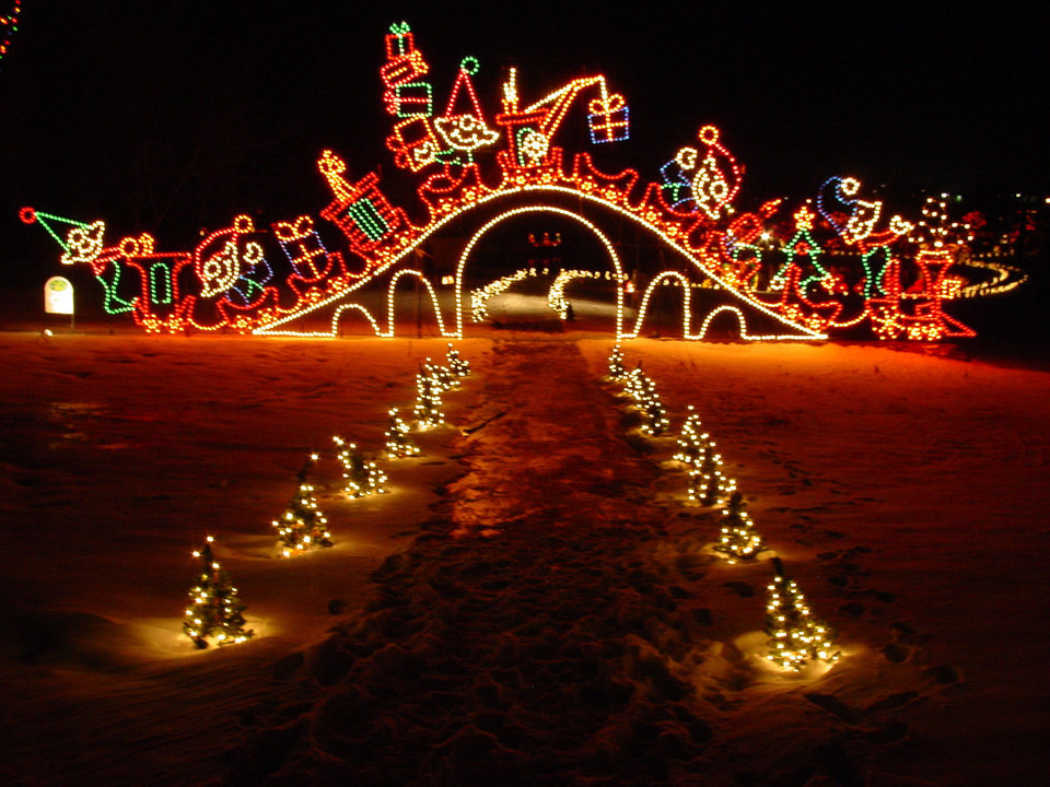 Lights at Yukon\'s Christmas in the Park. Photo provided.