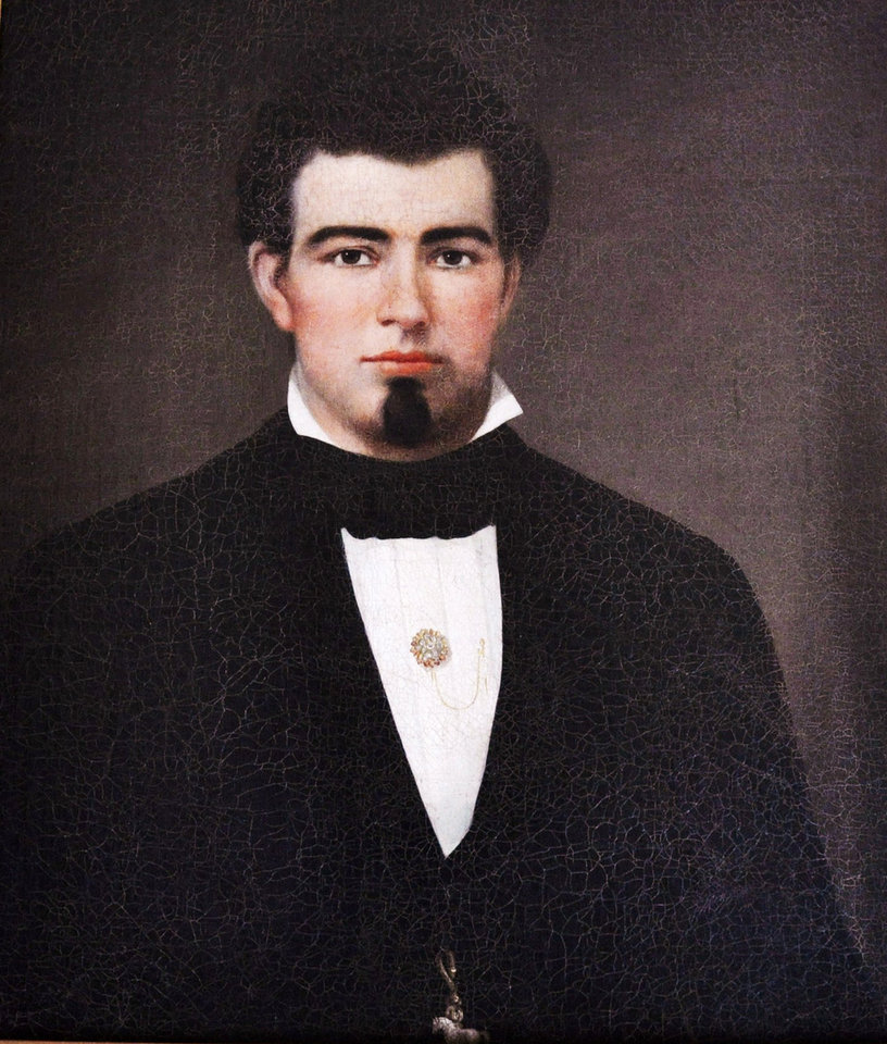 Photo - This undated image provided by the Saratoga Springs History Museum shows a 19th century painting of John Morrissey. Saratoga Race Course is tipping its hat to Morrissey, the Irish-born fighter-gambler-politician who punched his way to national fame before the Civil War and launched what's now the nation's oldest and most successful racetrack. Other than closures forced by moral crusaders and World War II, Saratoga Race Course has been going strong ever since it opened on Aug. 2, 1864. Its 146th season is underway through Labor Day. (AP Photo/Saratoga Springs History Museum)