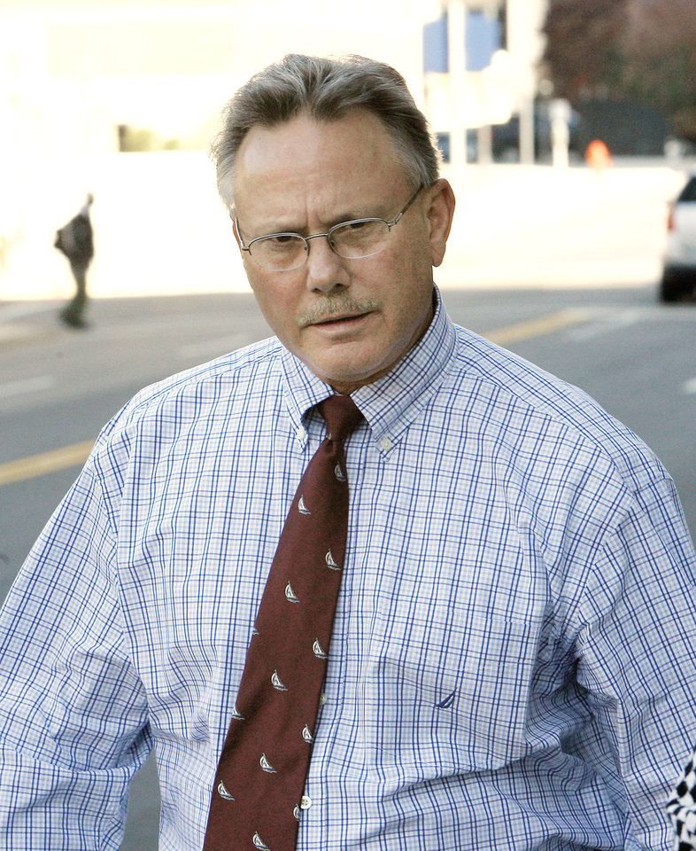 Gregory Owen leaving the Federal Courthouse in downtown Oklahoma City Friday, Nov. 7, 2008. BY PAUL B. SOUTHERLAND, THE OKLAHOMAN