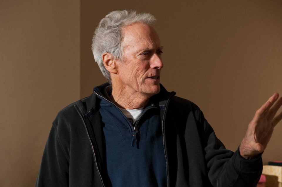"""Photo -  Director CLINT EASTWOOD on set during the filming of Warner Bros. Pictures' drama """"HEREAFTER,"""" a Warner Bros. Pictures release."""