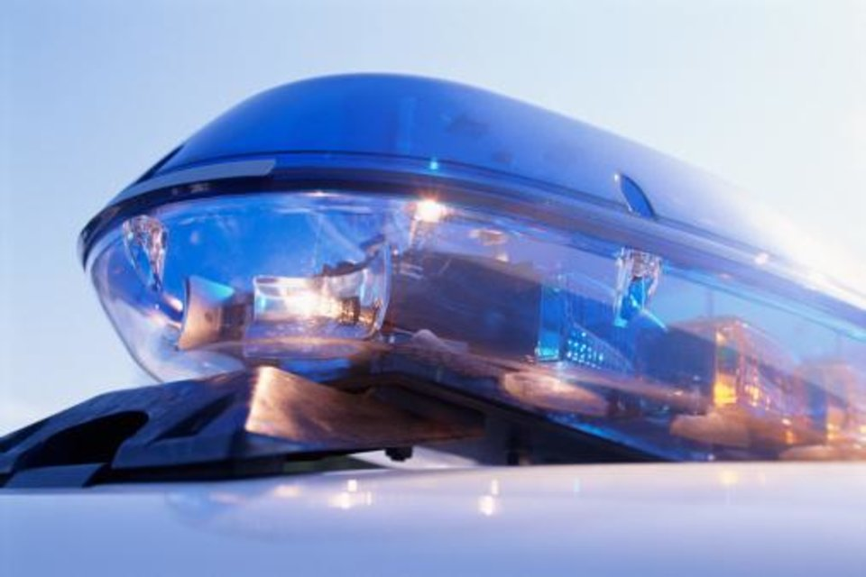Photo - Close-up of emergency lights on police car
