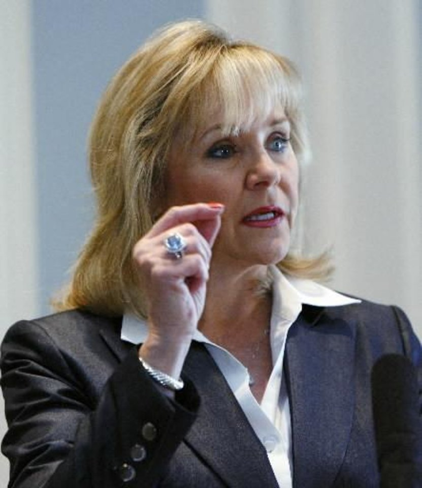 The tax cut bill rejected by the court was one of Gov. Mary Fallin's top priority pieces of legislation. AP Photo
