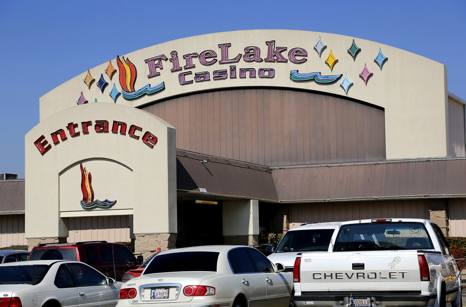 Photo - The original Fire Lake Casino on Hardesty Road in Shawnee. shown on Wednesday.  Jim Beckel - THE OKLAHOMAN