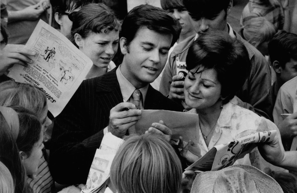 """American Bandstand's"" Dick Clark visits Teen Town at the State Fair of Oklahoma in Oklahoma City on Sept. 22, 1969. The Oklahoman Archives"