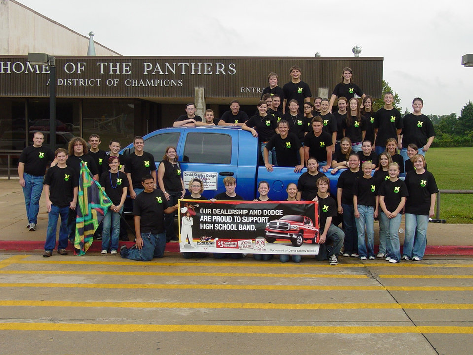 The Harrah Marching Band is proud to partner with David Stanley Dodge for the Hometown Scholarship Program.<br/><b>Community Photo By:</b> Sandra Rehagen<br/><b>Submitted By:</b> Audrey, Harrah