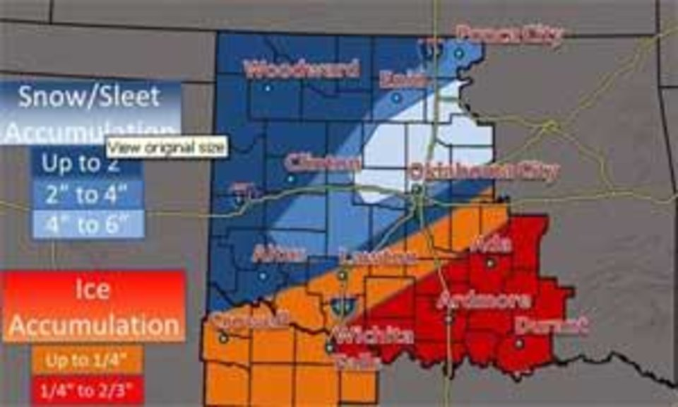 Photo - Map provided by meteorologist Rick Smith