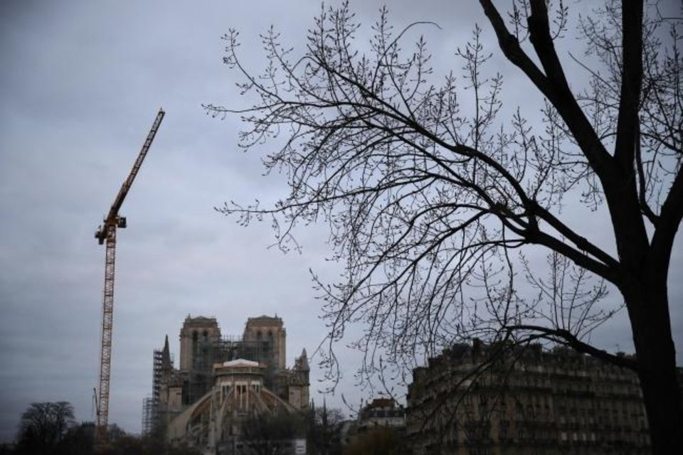 Photo -  Notre Dame cathedral is pictured Jan. 5 in Paris. [AP PHOTO]