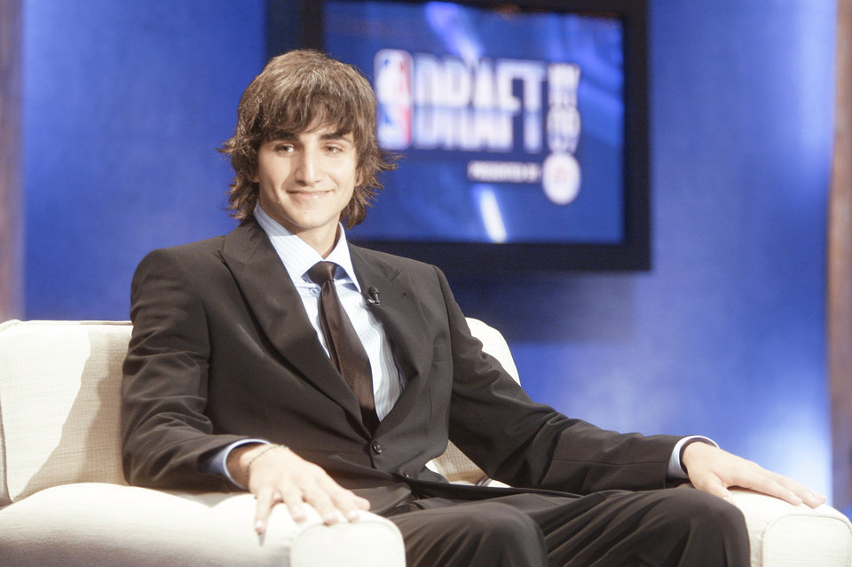 Photo - Spanish guard Ricky Rubio would have been an intriguing pick for the Thunder, but Thunder general manager Sam Presti is happy with picking James Harden. AP Photo
