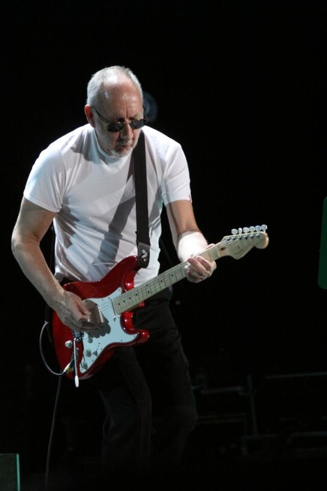 Who guitarist Pete Townshend performs Thursday night with his band at the BOK Center in Tulsa. PHOTO BY VERNON GOWDY III, FOR THE OKLAHOMAN