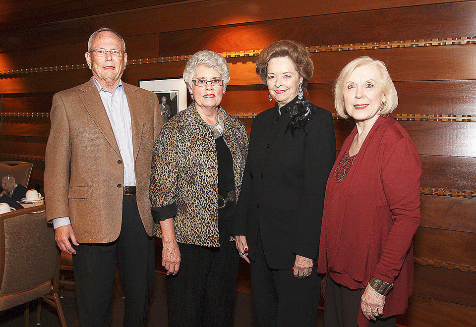 Photo - Sam and Jeanne Cole, Sharlene Branham, Carolyn Bean.  PHOTOS BY DAVID FAYTINGER, FOR THE OKLAHOMAN