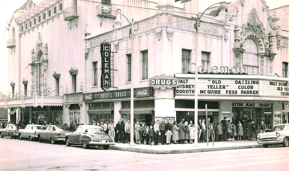 """Photo - Left: The Coleman Theater in Miami screened the film """"Old Yeller"""" in 1959. Photo provided"""