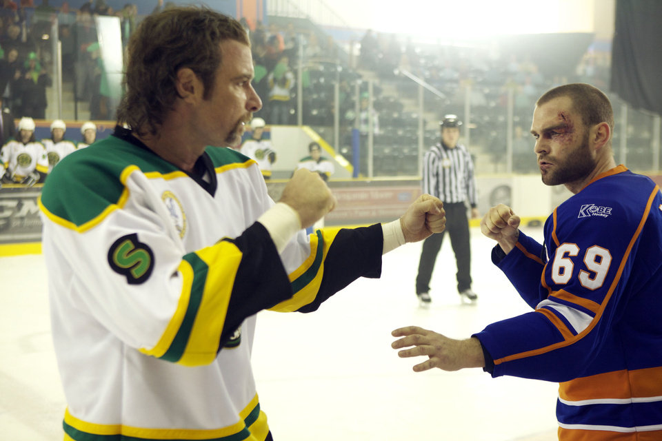 "In this film image released by Magnolia Pictures, Liev Schreiber, left, and Seann William Scott are shown in a scene from ""Goon."" (AP Photo/Magnolia Pictures)"