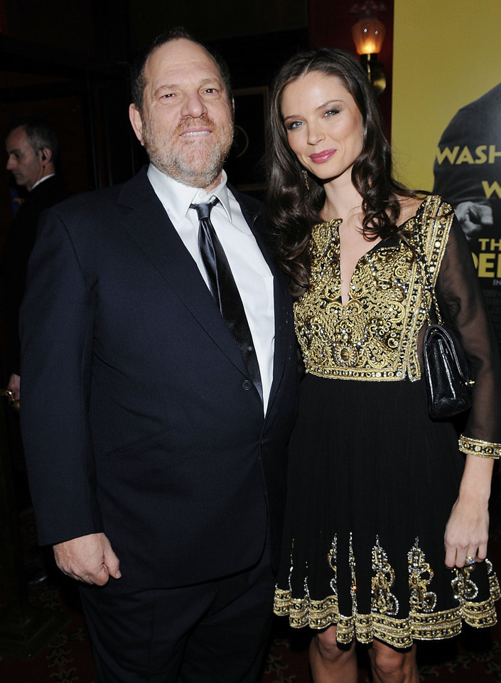 "Fashion designer/actress Georgina Chapman and her husband, film producer Harvey Weinstein, attend ""The Great Debaters"" film premiere at the Ziegfeld Theater, on Wednesday, Dec. 19, 2007 in New York. Chapman will make her directorial debut making a short film for Ron Howard's ""Project Imagin10n,"" and she will use a whimsical image by Edmond photographer Brittany Johnson to inspire her. (AP Photo/Evan Agostini) <strong>Evan Agostini - AP</strong>"