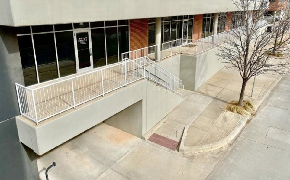 Photo -  Exterior of Adept Commercial Real Estate at 1 NE 2, Suite 101, in the Lofts at Maywood Park. [PROVIDED/ADEPT]