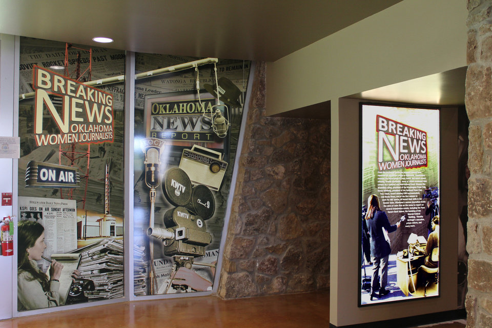 """Photo -  """"Breaking News: Oklahoma Women Journalists"""" exhibit at the Pioneer Woman Museum in Ponca City. Photo provided"""