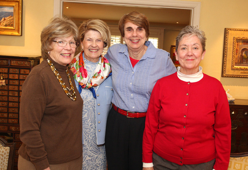 Mary Vanmeter, Carole Harrington, Margaret Queen, Diane Parker.  PHOTO BY DAVID FAYTINGER, FOR THE OKLAHOMAN